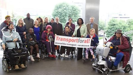 The campaigners are calling for better access and 'turn up and go' services for disabled commuters (