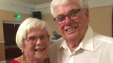 Sheila and Peter Little on their diamond anniversary celebrations last weekend. Photo: Contributed