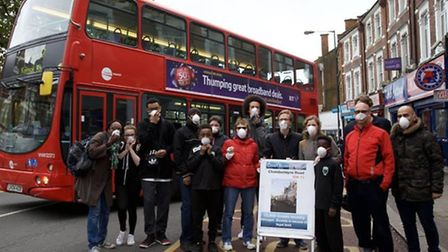 Campaigners have launched a petition demanding cleaner air from diesel powered buses as pollution hi