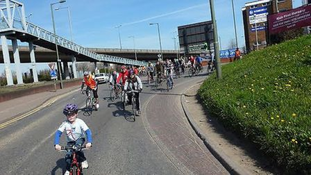 The cyclists have warned the new traffic corridor could risk more accidents