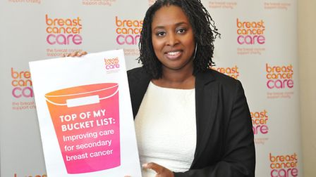 """Dawn Butler MP met with """"inspirational"""" women at the Breast Cancer Care reception in Parliament."""