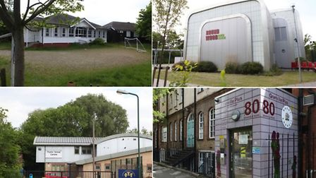 Top left clockwise: Wembley youth centre, Roundwood Myspace, Granville Plus, Poplar Grove (Pic credi