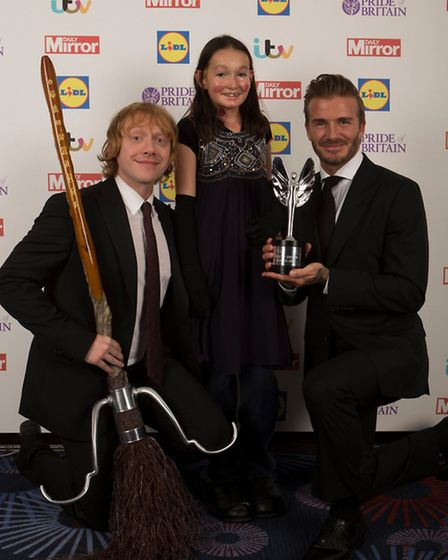 2015 Daily Mirror Pride of Britain Awards, Grosvenor House Hotel, London 28/09/15.Child of courage
