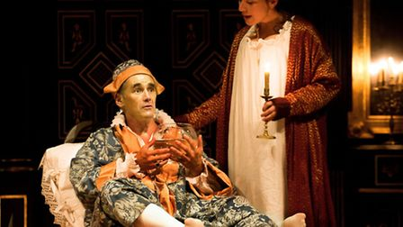 Mark Rylance (Philippe V) and Melody Grove (Isabella) in Farinelli and the King. Picture: Simon Anna