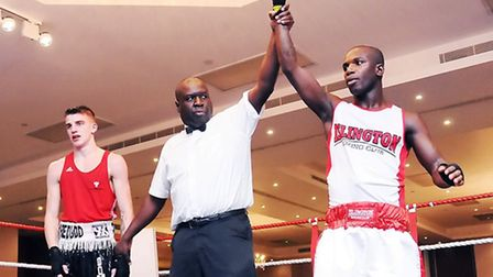 Islington BC captain Jeff Ofori (right) will be in action on the club's latest show at the Boston Do