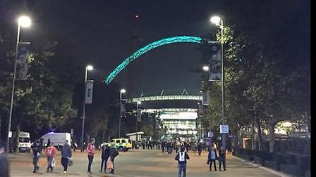 Paramedics attended the scene to assist Wembley Stadium medical staff with treating the man's injuri
