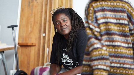 Sharon D. Clarke and Ayesha Antoine in rehearsals for A Wolf In Snakeskin Shoes. Picture: Mark Douet