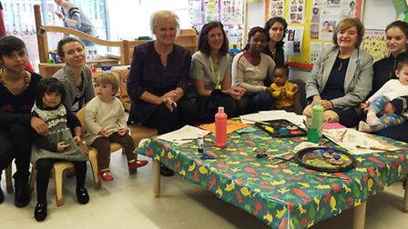 Teams from Barnardo's and Brent Council come together to meet families and staff at Willow Children'