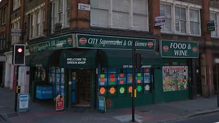 City Supermarket, in Goswell Road. Picture: Google Street View