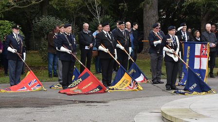 Service of remembrance honours heroes who gave their lives during Second World War as the Royal Nava