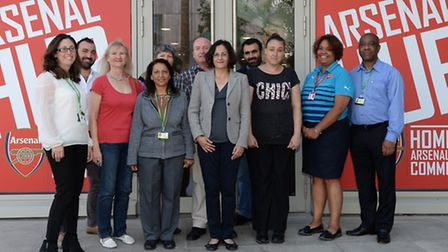Islington Cllr Asima Shaikh, centre, visited users and staff at the learning centre. Picture: Arsena