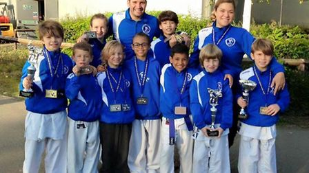 The Veras Academy squad at the Wado UK East Yorkshire Open Championships