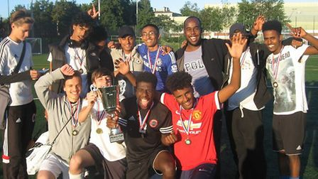 The winning team from Finsbury Park Mosque