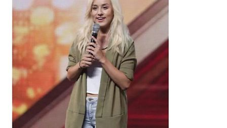 Ebru performing at her audition on The X Factor