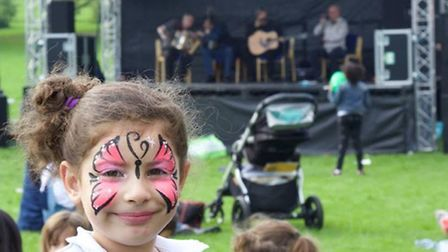 Young children got their face painted and enjoyed a magic show at the first Brent Community Friendsh