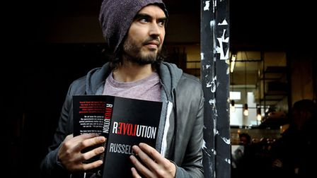 Russell Brand Opens Trew Era Cafe. Picture: Nick Ansell/PA