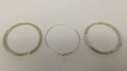 Police have recovered these pieces of stolen jewellery