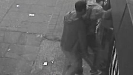 CCTV stills of two of the suspects in Preston Road