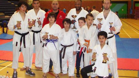 Sobell Karate Club display their medals at Portsmouth