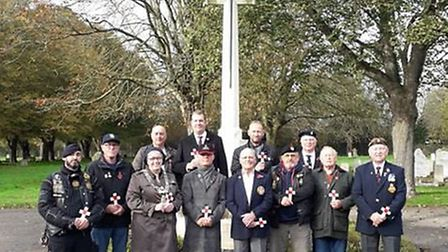 Ahead of Remembrance Sunday, Lowestoft Town Council supported an initiative to place a cross on ever