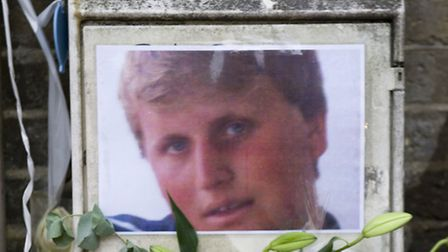 The shrine where Henry Hicks died in a police chase in Islington (photo: Arnaud Stephenson)