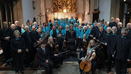 Pakefield Singers at the end of their concert at St Margaret's Church in Lowestoft. Picture: Graham