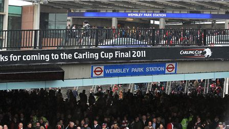 Wembley Park tube station is heavily used during events at the stadium and the SSE Arena (pic credit