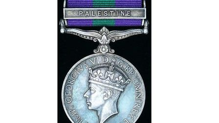 A similar medal to the one stolen in a burglary in Kingsbury
