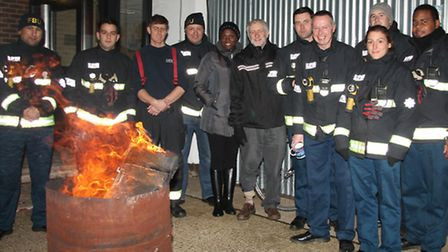 Islington North MP Jeremy Corbyn joined Holloway firefighters on the picket line during a national f
