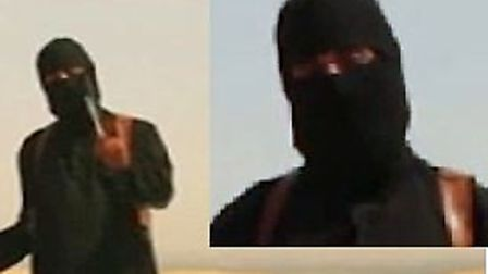Emwazi always appeared in videos dressed in black with his face covered (Photo: Liveleak/PA Wire)
