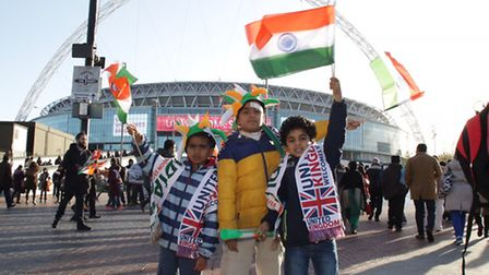 Young members of the Subbu family arrive at the rally to welcome the Indian PM (pic: Francis Henry)
