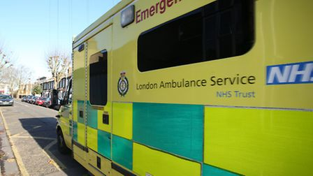 Paramedics took to Twitter after someone threw fruit at their ambulance in Willesden in the early ho
