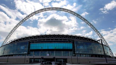 Wembley Stadium was hosting the all-Manchester semi in April 2011 (Pic credit: PA)