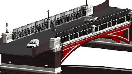 The anti-suicide measures which will be installed at Archway Bridge