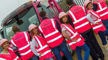 PB Donoghue (Waste Management) Ltd in Brent Cross have gone pink in support of breast cancer charity