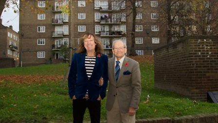 War veteran Doug Radcliffe MBE, 91, and his son Greg celebrate success for their 'no to cladding' ca
