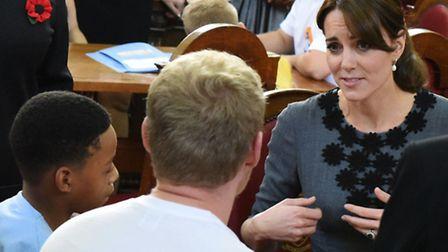 The Duchess of Cambridge meets a mentor and a child from Chance UK's early intervention mentoring pr