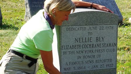Rosemary Brown visits Nellie Bly's grave in New York
