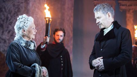 Judi Dench (Paulina) and Kenneth Branagh (Leontes) in The Winter's Tale. Picture: Johan Persson