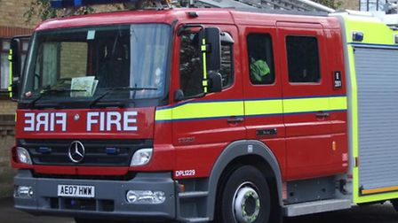 Firefighers from four fire stations tackled the blaze in Plaistow on Saturday night