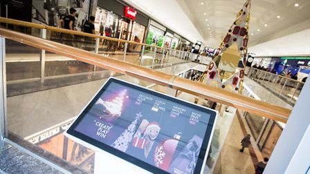 A fully interactive Christmas tree where children can play games is in Brent Cross sShopping centre