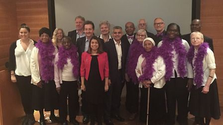 Tulip Siddiq MP and Sadiq Khan MP joined Bolder Voices at the launch of their music video I Love Tha