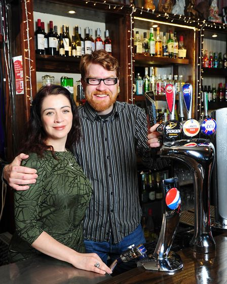 Emily and Are Kolltveit, licensees of the Chandos Arms, brought the ailing pub in Colindale back int