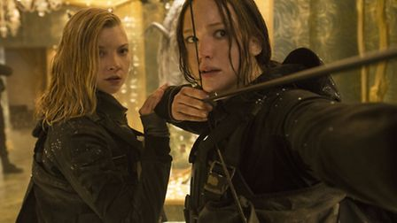 Jennifer Lawrence and Natalie Dormer in The Hunger Games: Mockingjay - Part 2. Picture: Murray Close