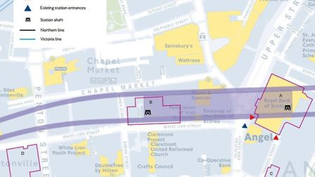 Proposed sites to be used for Crossrail 2 include: Royal Bank of Scotland building for tunnelling an