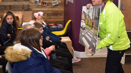 Road safety is demonstrated at the Crucial Crew event in Lowestoft. Pictures; Mick Howes