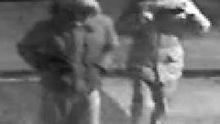 Police are appealing for help in the hunt for two suspects caught carrying out the burglary