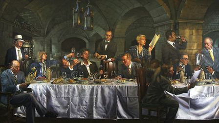 A painting of The Judgement of Paris dinner