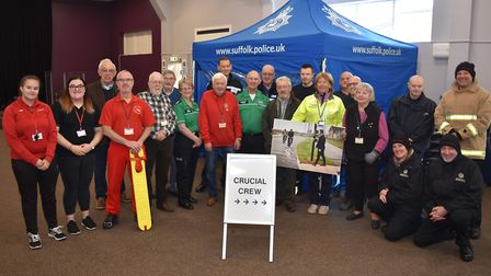 Leaders, Rotarians and helpers at the Crucial Crew event in Lowestoft. Pictures; Mick Howes