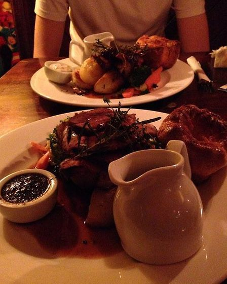 Roast main: beef, top, and lamb, bottom. Picture: Ant Carney